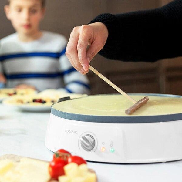 Crepe Maker Cecotec Fun Crepestone Twin 1200W White Grey|Popcorn Makers| |  - title=