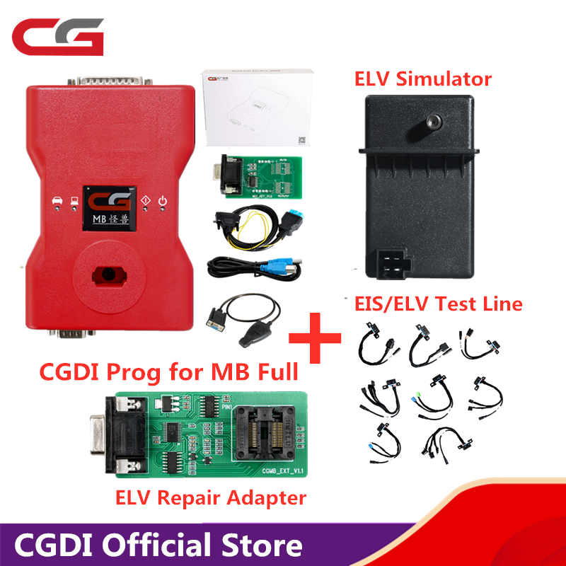 CGDI MB Prog Auto Key Programmer For Mercedes-Benz Support All Key Lost/Add Car Key Fastly/Online Password Calculation Free Ship