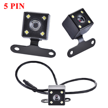Caméra de recul HD pour voiture, Vision nocturne inversée, grand Angle 170 degrés, enregistrement Parking, étanche, Image couleur, 5 broches