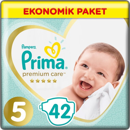 Prima, Baby Cloth, Premium Care,, 5 Size 42 PCs Junior Jumbo Pack.