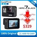 GoPro HERO7 черная Водонепроницаемая экшн-Спортивная камера с сенсорным экраном Go Pro HERO 7 12MP фото прямая стабилизация