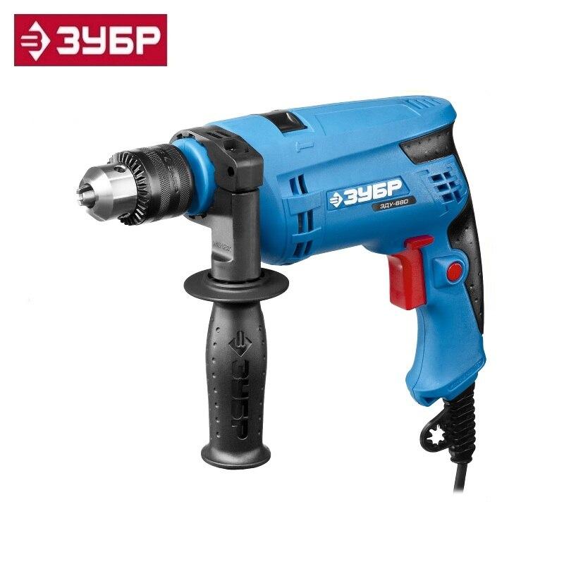 купить Hammer drill Zubr Professional ZDU-680 ERKM2, 13mm cartridge, reverse, steel-10mm / 13mm-concrete / wood-20mm, 0-3000 rev / min недорого