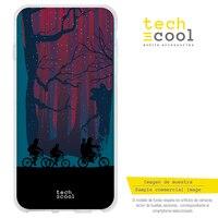 FunnyTech®Capa de silicone para iphone 5/5S/se coisas estranhas silhuetas da floresta vers.1