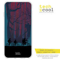 FunnyTech®Stand case for LG K4 Silicone 2017 L Stranger Things forest silhouettes vers.1