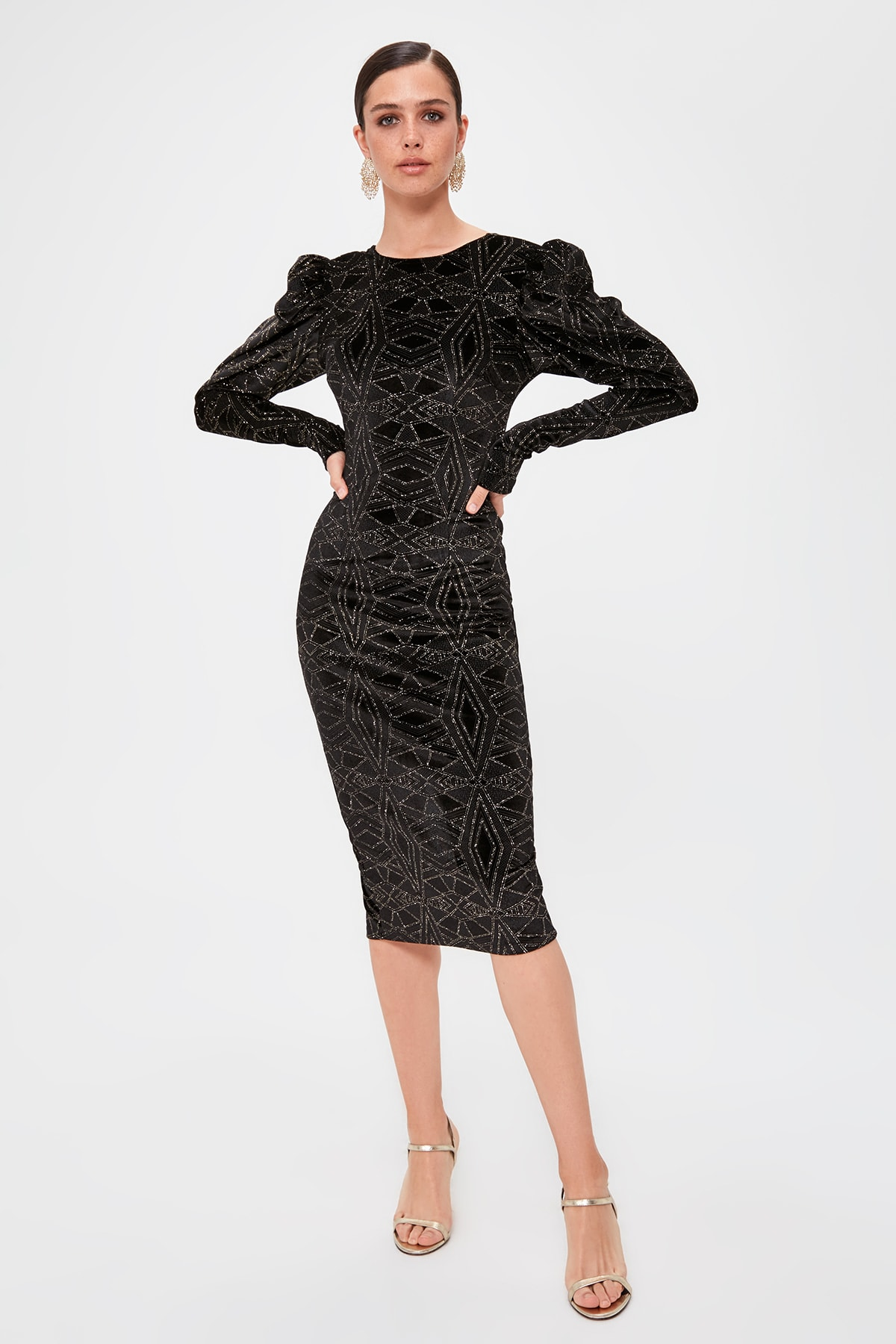 Trendyol Sleeve Detail Dress TPRAW20EL1382