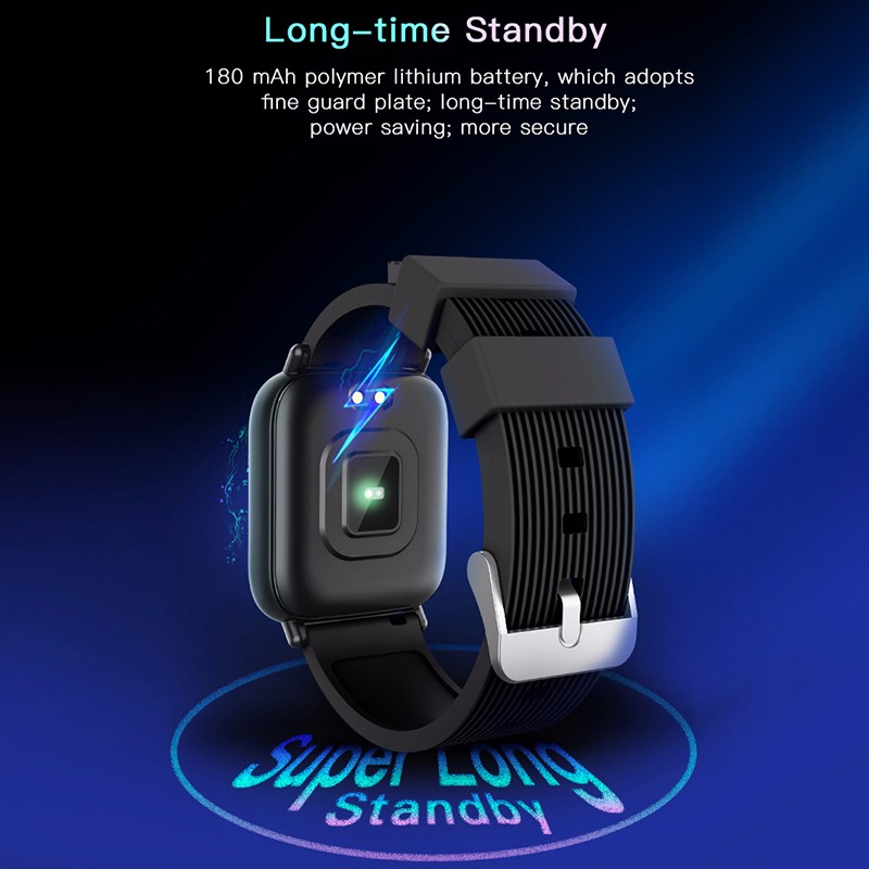 G20 Smart Watch Sleep monitoring Call reminder Blood Pressure Oxygen Fitness Tracker Heart Rate Smart Bracelet PK amazfit bip in Smart Watches from Consumer Electronics