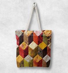 Else цветная 3d коробка абстрактная Новая модная белая парусиновая сумка с веревочной ручкой хлопковая парусиновая сумка на молнии сумка на п...