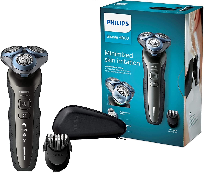Philips S6640 / 44 Влажная и сухая бритье серии электробритва 6000 с многоточной системой бритья, SmartClick стайлер для бороды 1