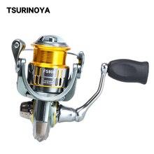 TSURINOYA Spinning Reel FS 800 1000 2000 3000 Metal Spool Spinning Fishing Coil Reel 7kg Max Drag 9+1BB Ultralight Trout Reel