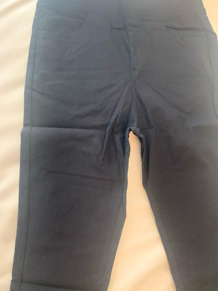 Summer Style Candy Color Capris Pants Women Cotton Thin Pants Ladies High Waist Elastic Plus Size S 3Xl Pencil Pants photo review