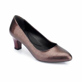 FLO 82 312092DZ burgundowe buty damskie Polaris tanie i dobre opinie Trzciny