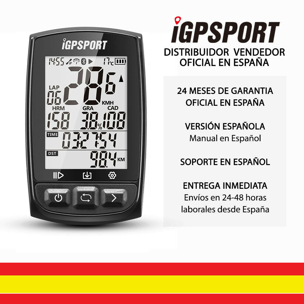 IGPSPORT iGS50E (Spanish Version)-<font><b>GPS</b></font> cycle <font><b>computer</b></font> bicycle <font><b>bike</b></font>. Data Recorder and routes. 2,2