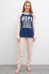 U.S. POLO ASSN. Розовый пижамный комплект