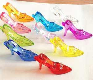 Children's Cinderella Crystal High Heel Shoes Pendant Little Girl Play House Game Toy