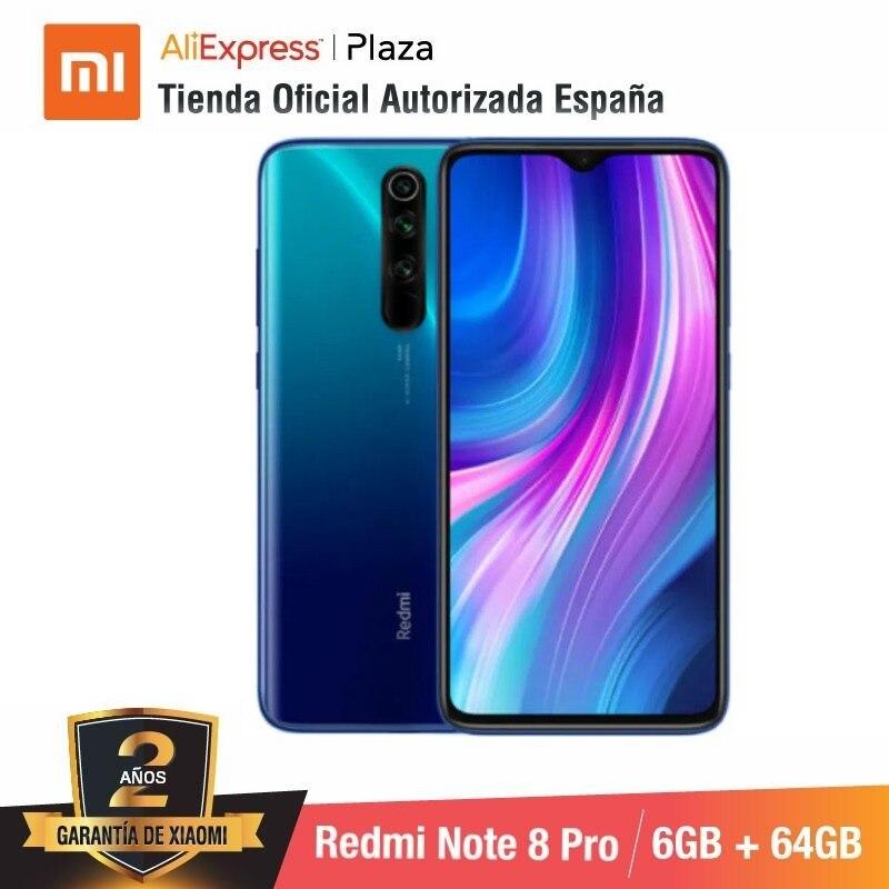 Xiaomi Redmi Note 8 Pro (64GB ROM con 6GB RAM, Cámara de 64MP, Android, Nuevo, Móvil) [Teléfono Móvil Versión Global para España] note8pro
