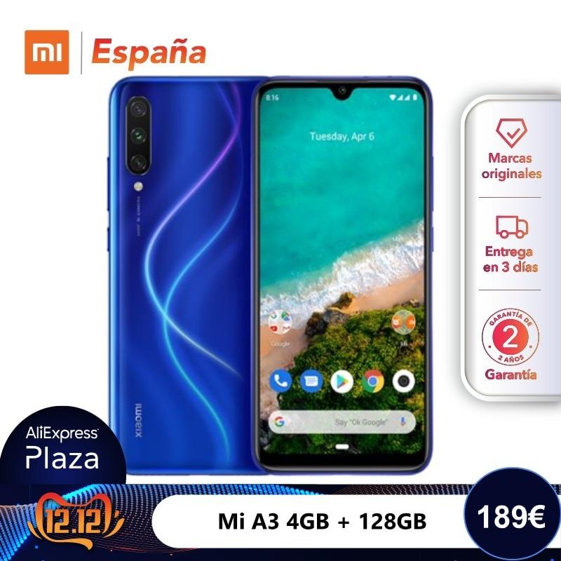 [Global Version For Spain] Xiaomi Mi A3 (Memoria Interna De 128GB, RAM De 4GB, Triple Cámara) Móvil