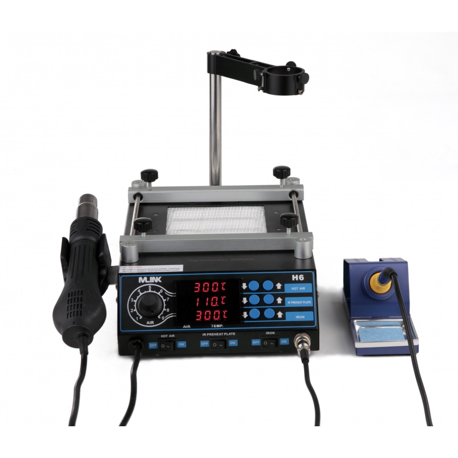 Station 3 In 1 Hot Air Welding, Soldering Iron & Preheater MLINK H6