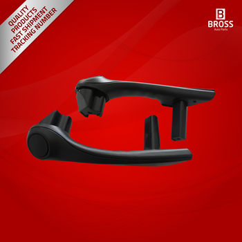 Bross BDP794 Front Inner Door Handle Grip Hold Black Color Left and Right 7701475316-7701475315 for Renault Megane MK2 2002-2005