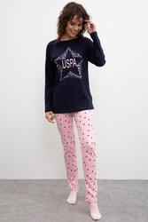 U.S. POLO ASSN. Голубой пижамный комплект