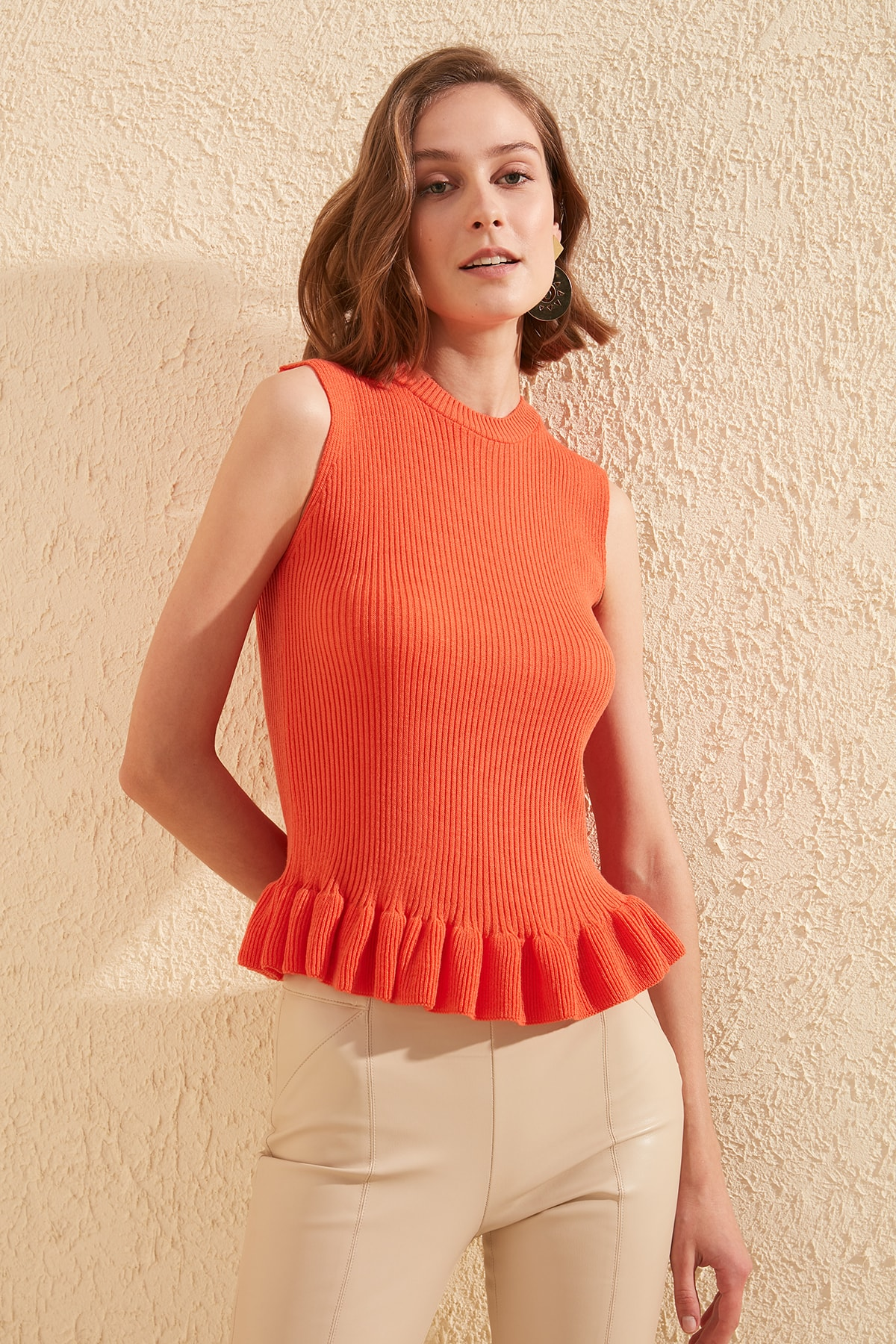 Trendyol Sleeveless Knitwear Bluz TWOSS20BZ0638