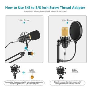 Image 5 - Neewer NB 35 Microphone Scissor Arm Stand Mic Clip Holder and Table Mounting Clamp&NW Filter Windscreen Shield & Metal Mount Kit
