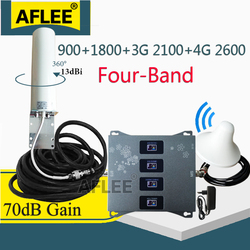 4G Cellular Amplifier 900 1800 2100 2600 Mhz Four-Band 4G Cellular Signal Repeater GSM 2G 3G 4G Signal Booster GSM DCS WCDMA LTE