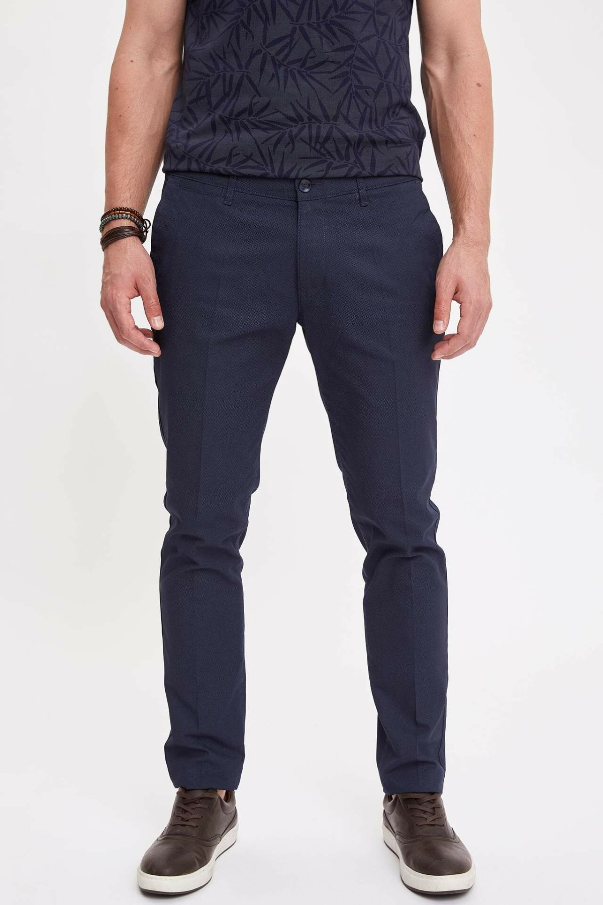 DeFacto Brand Formal Suit Trousers Casual Solid Straight Loose Pants For Men's High Quality Long Pants Men New - K3247AZ19SM