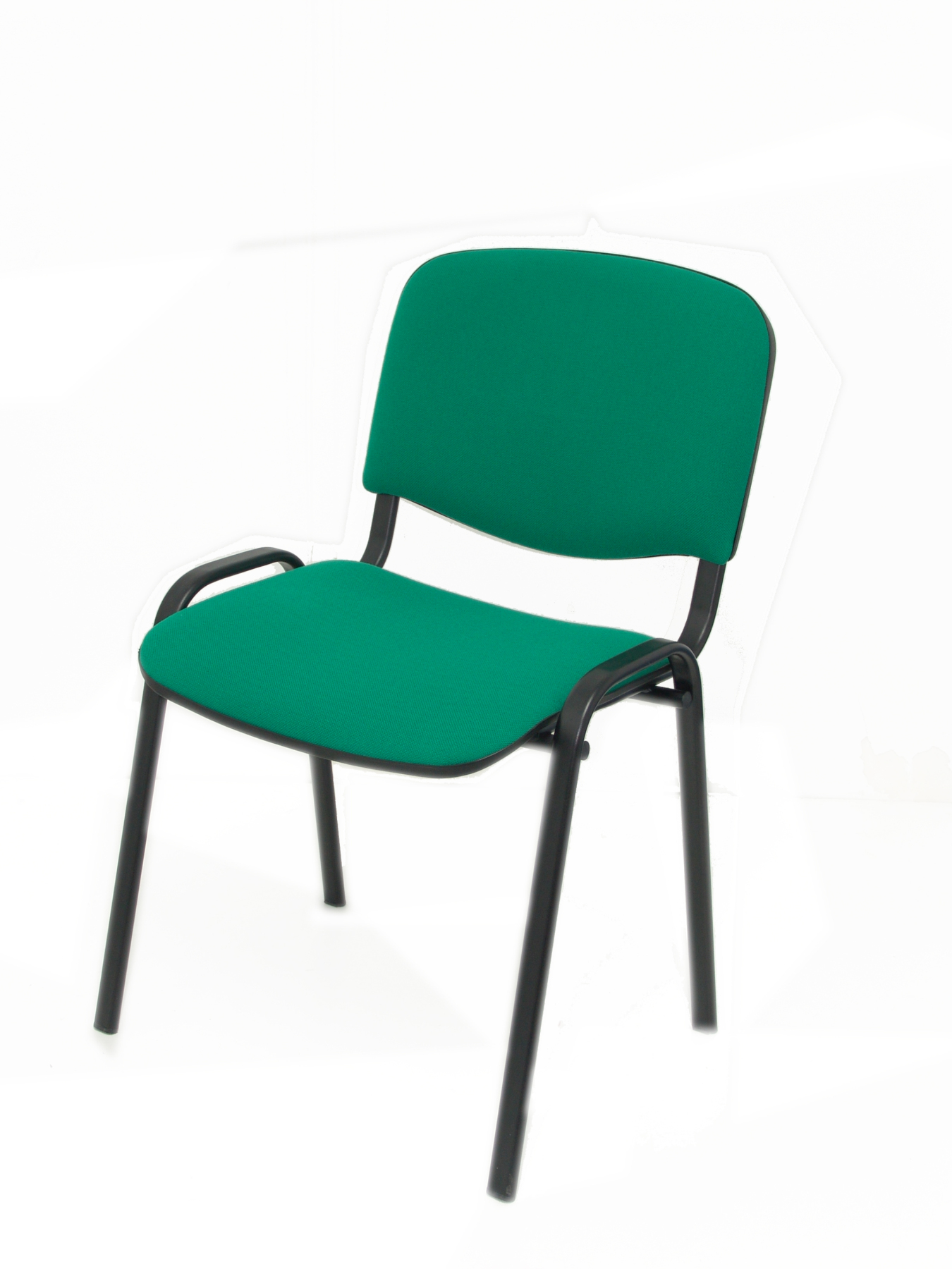 Pack 4 Chairs Confident Desk Ergonomic, Stackable, Multipurpose And Black Color Up Seat And Backstop Structure Upholstered