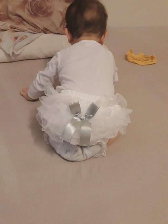 Summer Baby Bloomers Princess Bow Girls Short Pants Ruffle Mesh Infant Toddler Cotton Panties Diaper Covers photo review