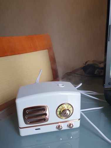 Retro Mini Air Humidifier with LED Light photo review