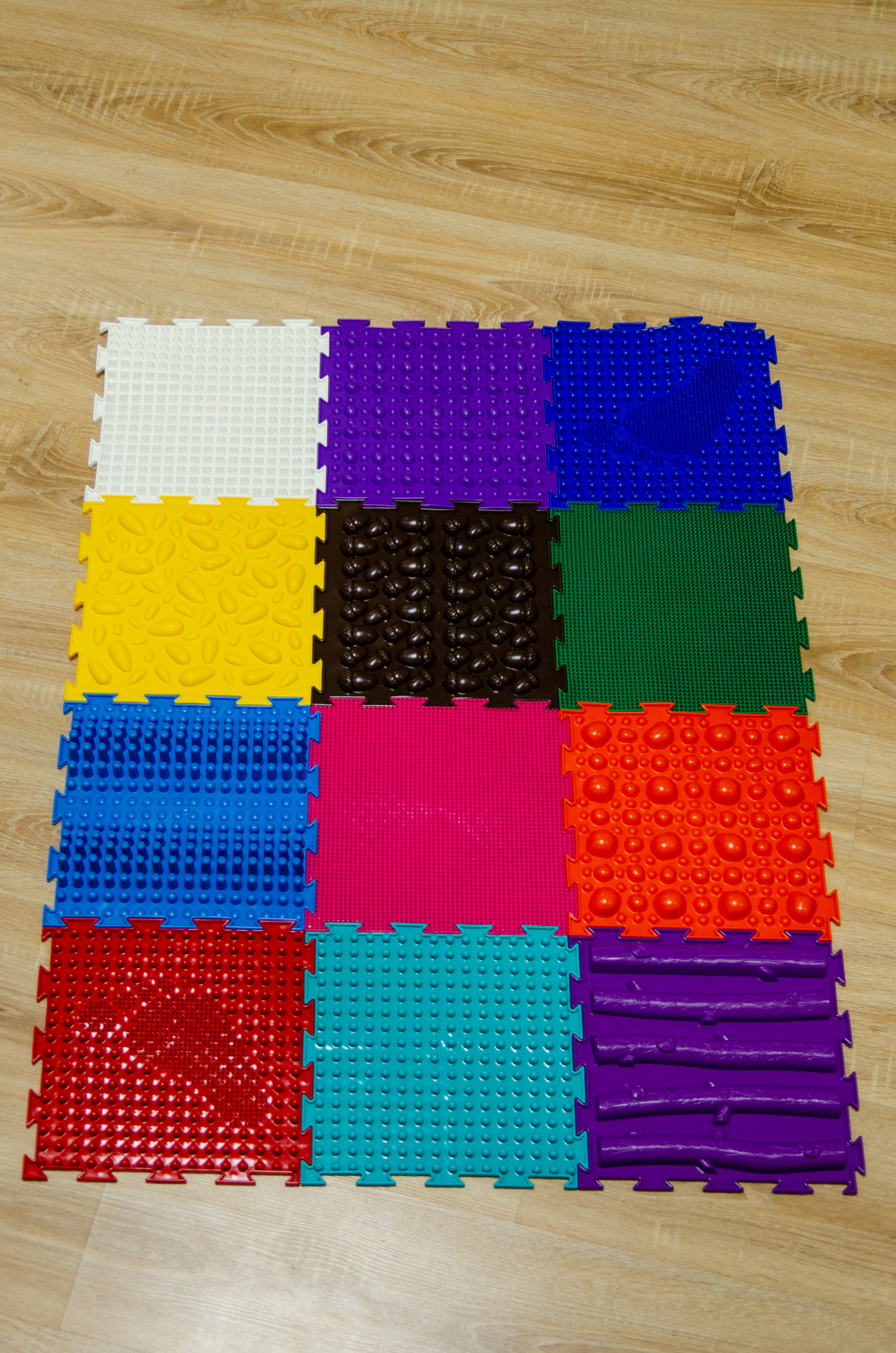 tapis de massage pour enfants orthodon ensemble de melange n 12 12 puzzles