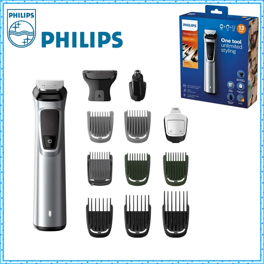 NEW MODEL 13 in 1 Philips Hair Clipper Multigroom 7000 Series Professional Hair Trimmer for Men Face Hair and Body FAST DELIVERY