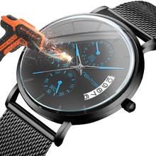 Nekttom męskie zegarki kwarcowe zegarki wodoodporne siateczkowy pasek zegarki zegarki dla mężczyzn nagroda zegarek zegarki sportowe zegarki tanie tanio NEKTOM 20cm QUARTZ 3Bar Ukryte zapięcie CN (pochodzenie) Stop 0 8mm Hardlex Papier STAINLESS STEEL 42mm 8225 20mm ROUND