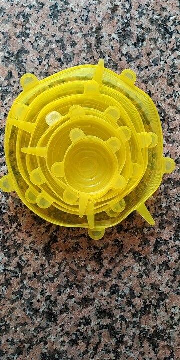 Silicone Food Lids 6 Pcs Set photo review
