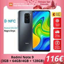 Xiaomi Redmi Note 9 (64GB con 3GB/128GB ROM con 4GB RAM Cuatro Cámaras Android Nuevo Móvil) [Teléfono Móvil Versión Global] note9
