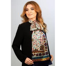 Hecho en Turquía % 100 bufanda de seda pura chal auténtico estampado turco mujeres largas bufandas pañuelo de cuello para mujer Fular pañuelo