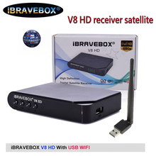 IBRAVEBOX V8 receptor de satélite HD Digital H.264 Full HD 1080P DVB S2 apoyo Wifi USB Youtube España receptor de TV por satélite