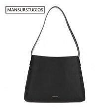 HotSale MANSURSTUDIOS Women Real Leather Tote Bag , Mansur Cammello Shoulder Bag,  Gavriel Ladies Luxury Handbag, Exclusive Sale