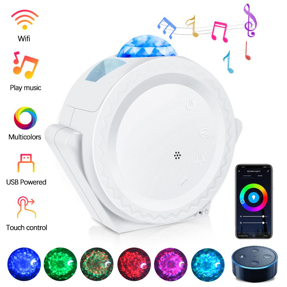 WIFT Smart Starry Projection Lamp Sky USB Charging Night Light Universe Lamp for Kid Children Bedroom Nursery Gift Free Ship