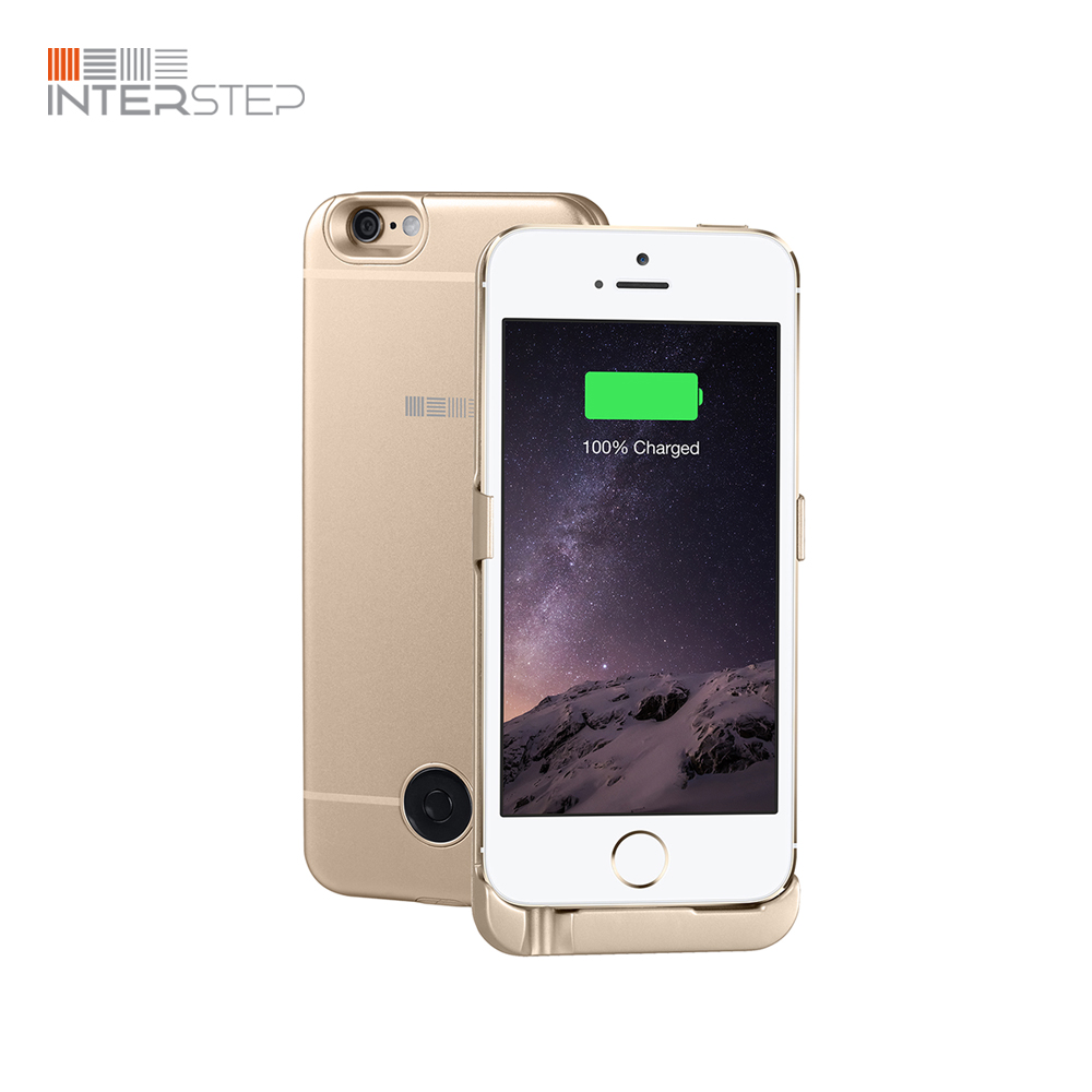 Case battery INTERSTEP INTERSTEP for iPhone 5/SE, 2200 mAh, Gold