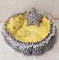 Jaju детский серый и желтый выдвижной игровой коврик для детского гнезда - фото