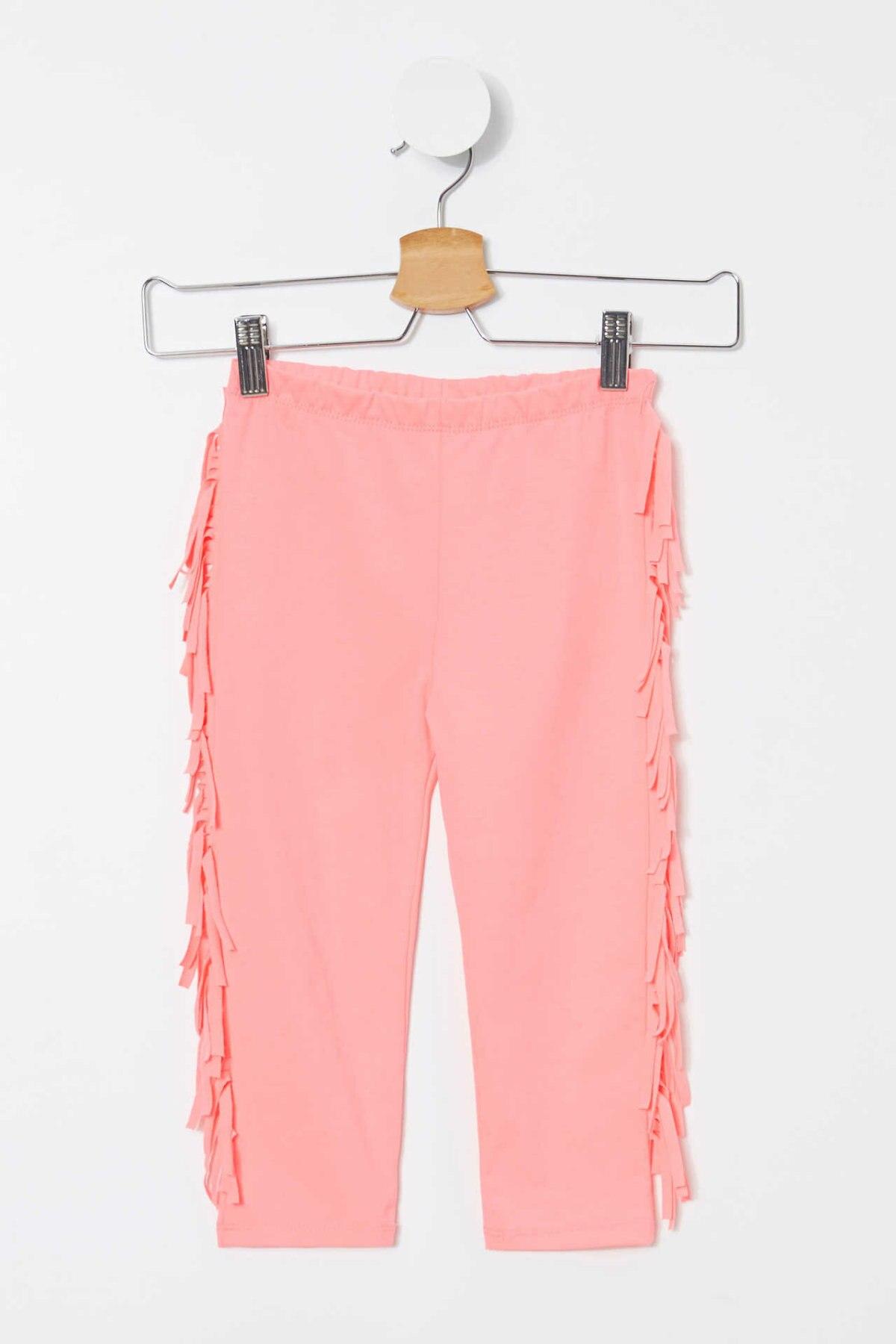 DeFacto Girl Summer Cute Pink Color Tassel Pants Leggings Girls Casual Elastic Bottoms Girls Pants-J3488A619SM