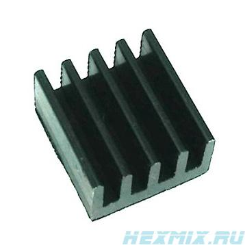 Radiator Aluminum 9x9x5mm Black 5 PCs