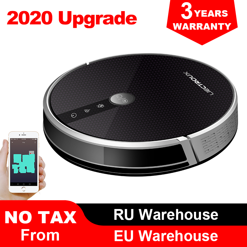 LIECTROUX C30B Robot Vacuum Cleaner Map Navigation,WiFi App,4000Pa Suction,Smart Memory,Electric WaterTank Wet Mopping Disinfect 1