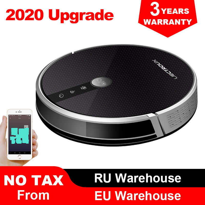 LIECTROUX C30B robotlu süpürge, harita navigasyon, 3000Pa emme, akıllı bellek, haritası ekran Wifi APP, elektrikli su deposu