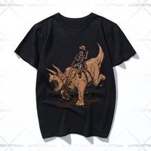 Трицератопс cowbot Футболка женская футболка одежда для девочек