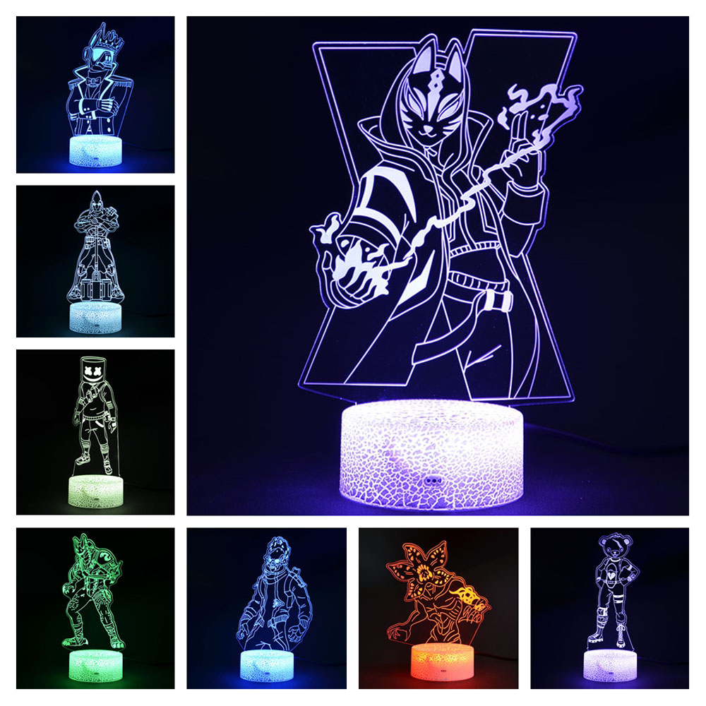 Magiclux 3D Illusion Battle Royale LED Night Lights Fortress Night Table Lamps Kids Room Decoration Creative Christmas Gifts