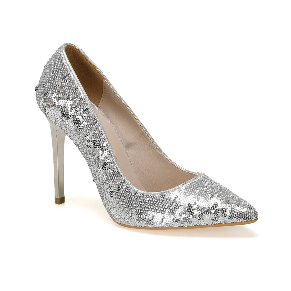 FLO 19SF-190806Y JAPANNED LEATHER Silver Women Shoes BUTIGO
