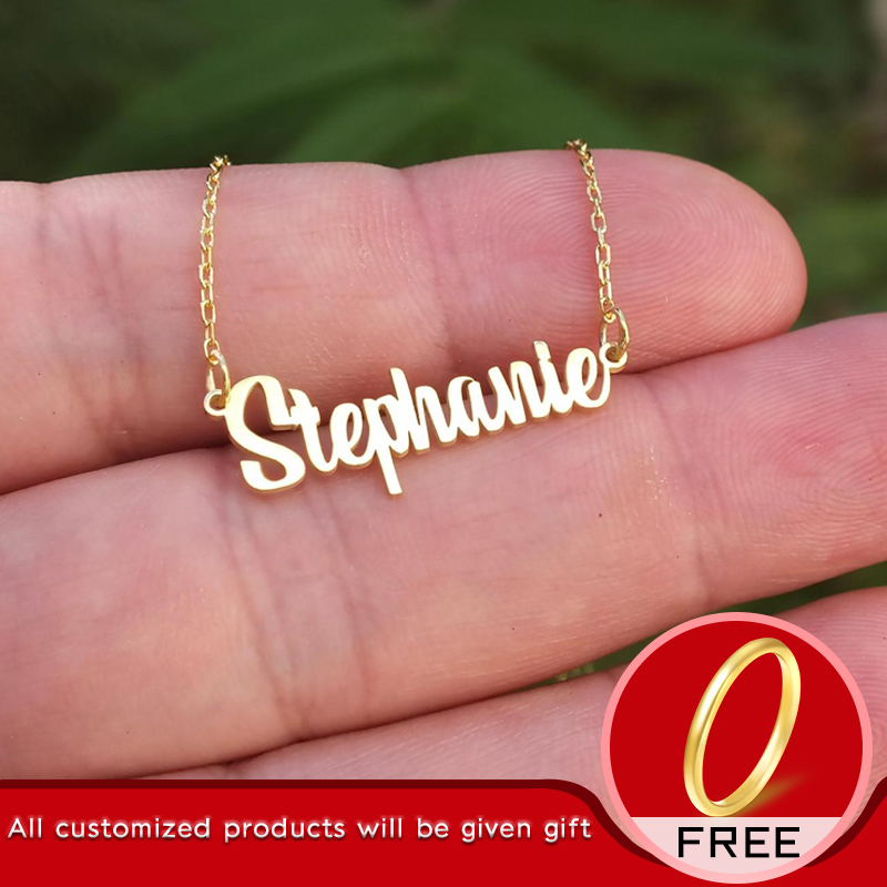 Stainless Steel Choker Custom Name Necklace Personalized Jewelry Men Handmade Nameplate Pendant Necklaces Women Best Friend Gift