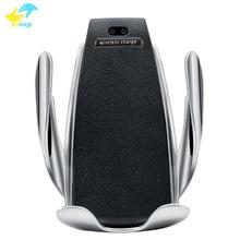 Original S5 chargeur de voiture sans fil 10W Station de chargement rapide support de téléphone de serrage automatique dans la voiture pour Samsung S10 iPhone X